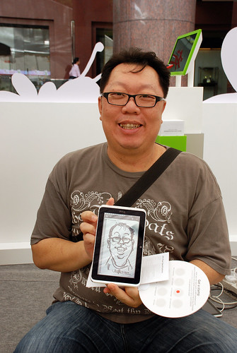 digital caricature live sketching on HTC Flyer for HTC Weekend - Day 1 - 9