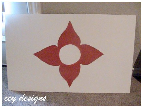 red and white flower design