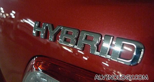 It's a hybrid car!