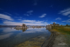 Moonlit Mono Lake, Mono Lake California (Darvin Atkeson) Tags: california park city light moon reflection nature rock night carson landscape photography mono weird october long exposure glow desert state shoreline midnight moonlight reno bridgeport monolake tufa constellation formations bigdipper polaris starlight darvin atkeson darv liquidmoonlightcom