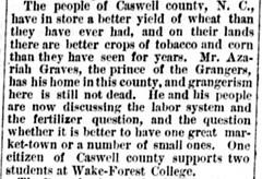 Azariah Graves (The Daily Dispatch, Richmond, Virginia, 23 August 1881