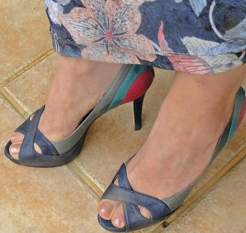 Peep toe colorido