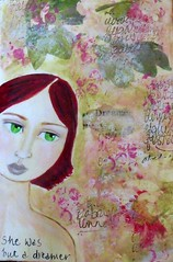 Dreamer (jennyr111) Tags: girl collage faces mixedmedia feminine dreamer journalpage