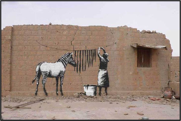 zebra stripes graffiti