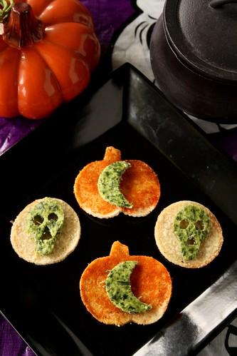 Martha Stewart's Halloween Spinach Ricotta Skulls