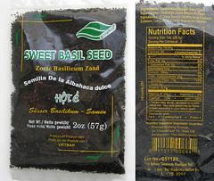 Sweet basil seeds, basilicum zaadjes