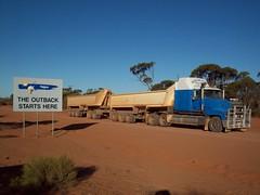 1471 (RAYFOOT) Tags: sunset truck australia titan winchester mack roadtrain quarries