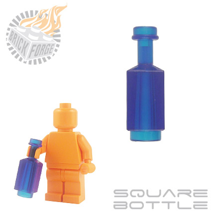 Square Bottle - Trans Dark Blue