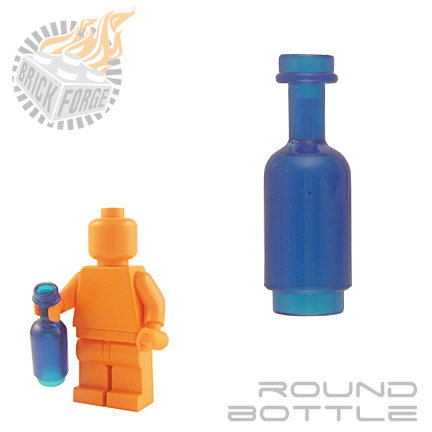 Round Bottle - Trans Dark Blue