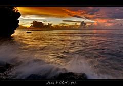 Sunsets,Guam,Peace!! (Tiger Guy,) Tags: ocean longexposure travel sunset sea sky sun white color reflection art beach water night clouds sunrise reflections outdoors island james islands coast sand nikon long exposure raw waves dusk sunsets clark nightshots reef shores guam tumonbay d300 jamesclark tripodshots nikond300 tokina1116 musictomyeyeslevel1