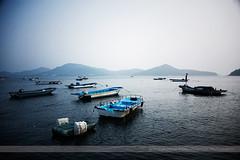 Boats, Incheon, Korea (Seven Seconds Before Sunrise) Tags: travel blue water boat asia korea southkorea incheon seavessels