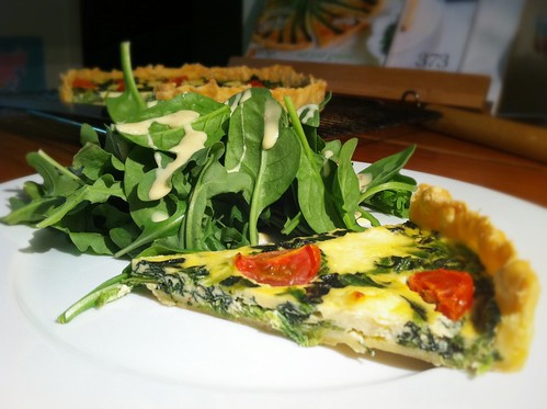 Spinach, Ricotta & Tomato Flan by mjd-s