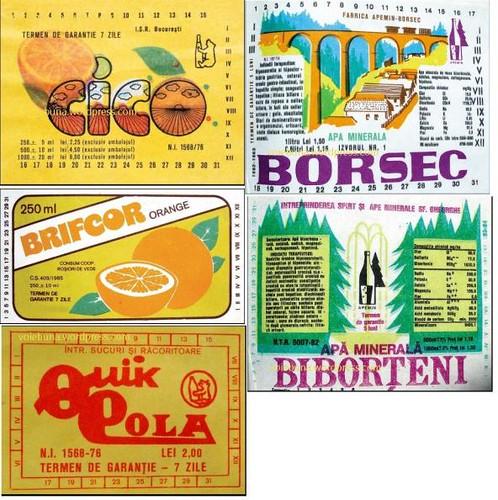 tags of Cico, Brifcor, Quik Cola, Borsec, Biborteni