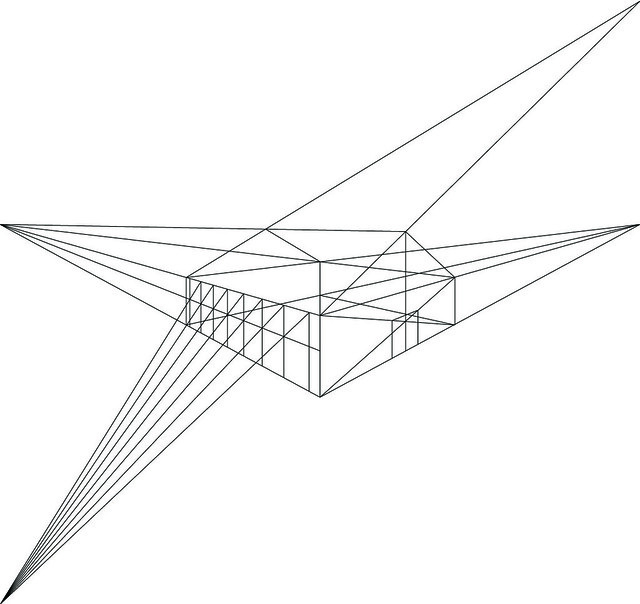 Perspective drawing - house