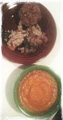 Squash & kale lasagna, apple & carrot soup, apple muffin