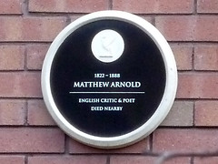Photo of Matthew Arnold black plaque