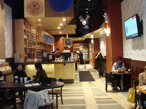 Inside Coffee Bean and Tea Leaf