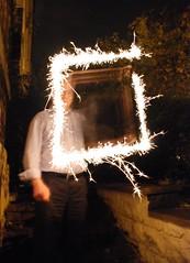 Diwali sparklers, John draws a square (adambangor) Tags: party england festival fireworks lakshmi sparklers lighttrails diwali festivaloflights newcastleupontyne tynewear tyneandwear fenham goddessofwealth