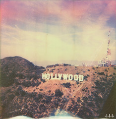 Tourist trap (steven -l-l-l- monteau) Tags: california color film analog polaroid los view angeles spirit aerial explore helicopter tip shade 600 hollywood instant steven hollywoodsign 70 vue flyover californie ip lll arienne px instantan helicopterview monteau survol impossibleproject px70colorshade