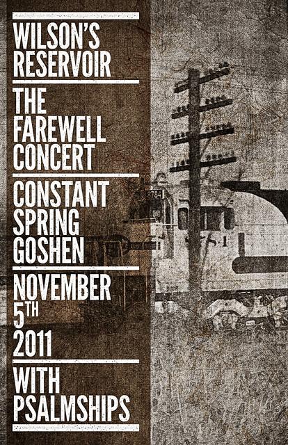 SAoS - Wilson's Reservoir farewell show poster