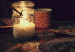 by candlelight (taralees) Tags: dinner warmth candlight oldcanningjars