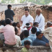 Rahul Gandhi interacts with people in Chandoli