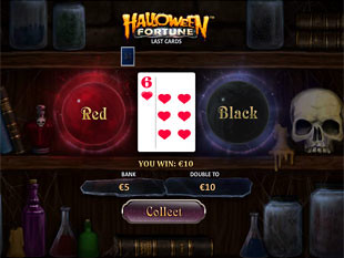 free Halloween Fortune slot gamble feature