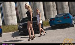 Tower-Girls-Walking-Crooked (JoeyNewcombe) Tags: sabrina cars ford chevrolet car graffiti blackwhite model automobile models chevy pontiac gto mustang corvette codi theurbansniper joeynewcombe