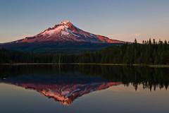 Day 662 - Alpine glow (greygirl25) Tags: sunset reflection mthood pacificnorthwest cascademountains trilliumlake