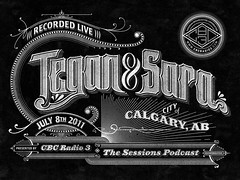 Tegan and Sara (Pretty/Ugly Design) Tags: blackandwhite calgary vintage typography graphicdesign teganandsara lineart sessions cbcradio3 handdrawntype customlettering sanbornmapco