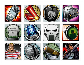 free The Punisher slot game symbols