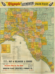 Melbourne Collins Street Directory 1950 Main Map web