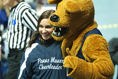 Lion with Cheerleader (acaben) Tags: basketball pennstate collegebasketball ncaabasketball psubasketball pennstatebasketball