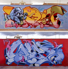 INCA & SEZ (SRCARAMELOS) Tags: blue roof wild urban hot art inca cheese death skull spain pieces burger evil colores drugs satan blam yelow cans sez graff eds droga doble risas 2011 llantos 2k11 johe duggery