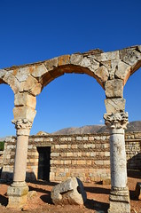 Anjar, Umayyad city, al-Walid I, 705-15, along the decumanus maximus (14) (Prof. Mortel) Tags: lebanon umayyad anjar