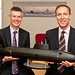 Shadow Secretary of State for Defence, Jim Murphy MP with John Hudson, managing director of BAE Systems Submarine Solutions