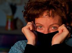 (ubriaca dal RIDERE!) Tags: 50mm donna tramonto occhi sguardo silvia azzurro timidezza sarabonvicini