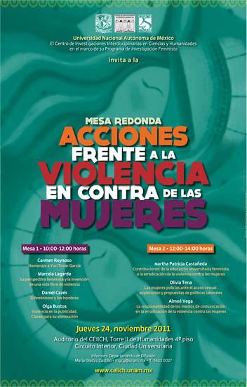 Acciones frente a la violencia en contra de las mujeres