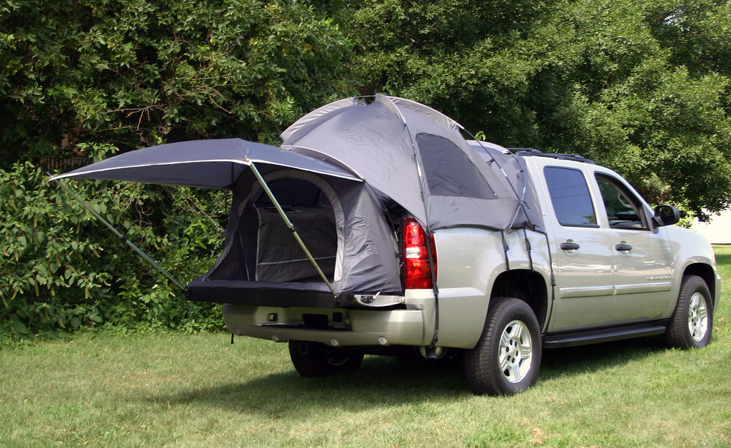 Chevy Avalanche truck bed tent for camping, tailgating and ...
