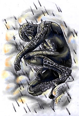 August2001: Spider Man movie poster inspired tattoo (Chris Hatch Tattooist) Tags: new chris 3 man black color colour sexy london rain tattoo modern ink studio ouch grey design three spider weird cool different drawing masculine feminine unique great gothic tattoos awsome freehand hatch custom marvel popular quirky venom symbiot