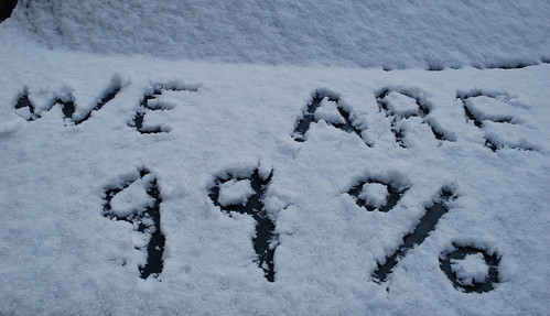 Written in the snow