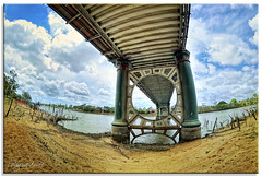 Going Under (fotografdude (Life in Paris)) Tags: bridge river nikon pylon fisheye riverbank bundaberg supports undercarriage d90 burnettriver colorphotoaward burnettbridge mygearandme musictomyeyeslevel1