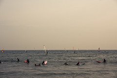 Japan,People Windsurfing in the Sea, (flaminghead Park) Tags: sea sky people reflection nature japan vertical sailboat outdoors photography tokyo day kamakura horizon transportation sail windsurfing yokohama rippled copyspace twopeople scenics distant defocused colorimage leisureactivity kanagawaprefecture horizonoverwater unrecognizableperson