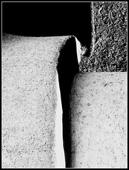 The Art Of Cement (Ben Tideway) Tags: white black cement shapes forms abstracts hiddenart