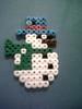 Snowman (perlerbeadcrafts) Tags: beads snowman hama perler beadsprite