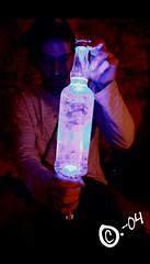 Alcool Mystre (C.-04) Tags: blue light people man paris sol strange canon underground eos weird purple under violet bleu lumiere catacombs 450 quarry bizarre personne homme gens abandonned catacombes sous etrange abandonn carrieres quarries carriere