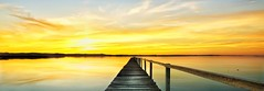 Ennui (Tim Poulton) Tags: sunset sky seascape reflection nature water clouds landscape nikon jetty wide sydney australia tourist panoramic nsw d3x