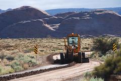 20110620_7251...Smooth operator (listorama) Tags: road utah machinery moab dirtroad 1000 lightroom roadgrader sandflatsrecreationarea sandflatsroad ut2011jun