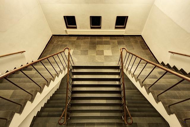 top view stairway