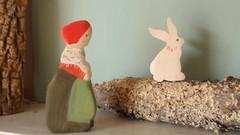 conversations with hop (prettydreamer.workshop) Tags: rabbit bunny spring elsabeskow childrenoftheforest waldorftoys waldorfnaturetable mrsacorn forestmama